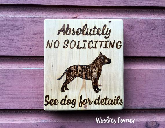 No Soliciting Sign Porch Sign No Soliciting See Dog For Details