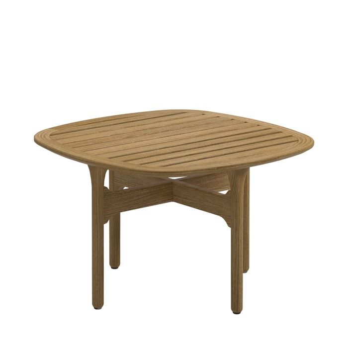 Gloster Bay Square Side Table Teak Top Width Inches 25Length