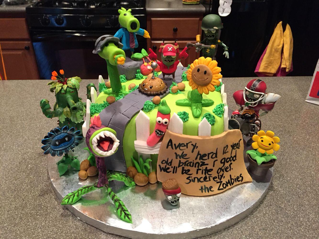 Plants vs Zombies Garden Warfare Cake Cakes Pinterest