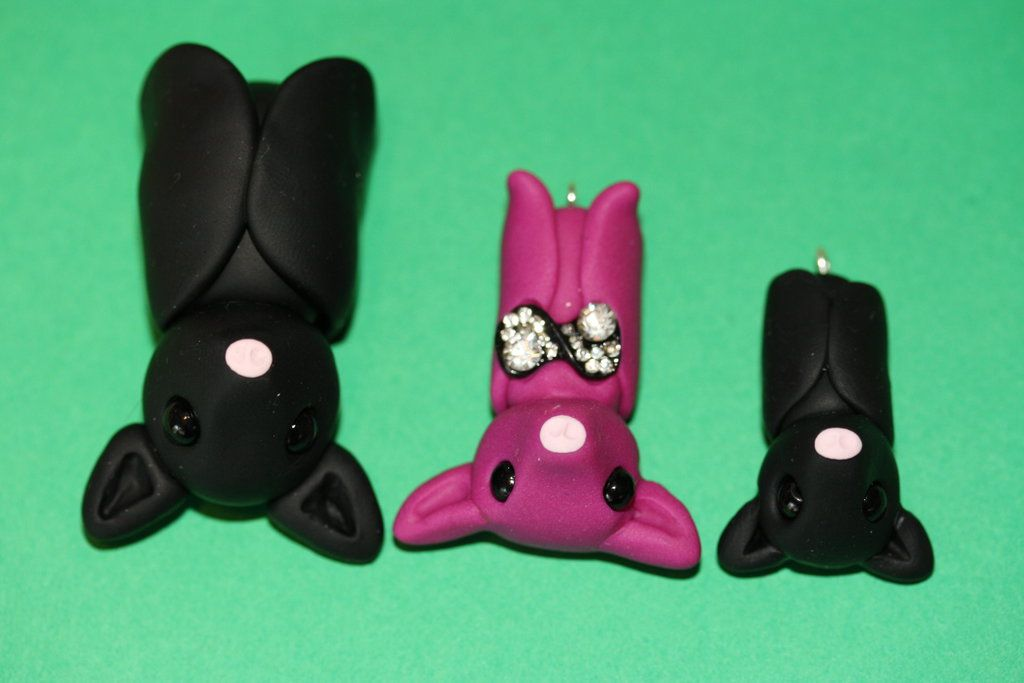 Polymer Clay Bats by Lugiafan4life.deviantart.com on @deviantART