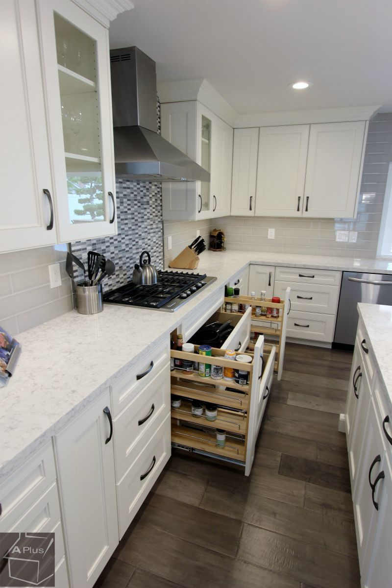 Transitional Style Kitchen Home Remodel white in