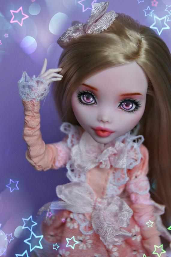 DOLL HEAD ONLY ooak monster high / reroot dolly hair / Monster High Doll / monster high repaint head / doll repaint / monster high ooak #ooakmonsterhigh