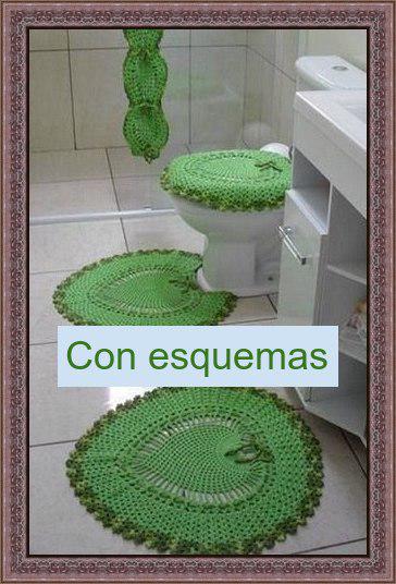 Delicadezas en crochet Gabriela: Juego de baño completo en crochet