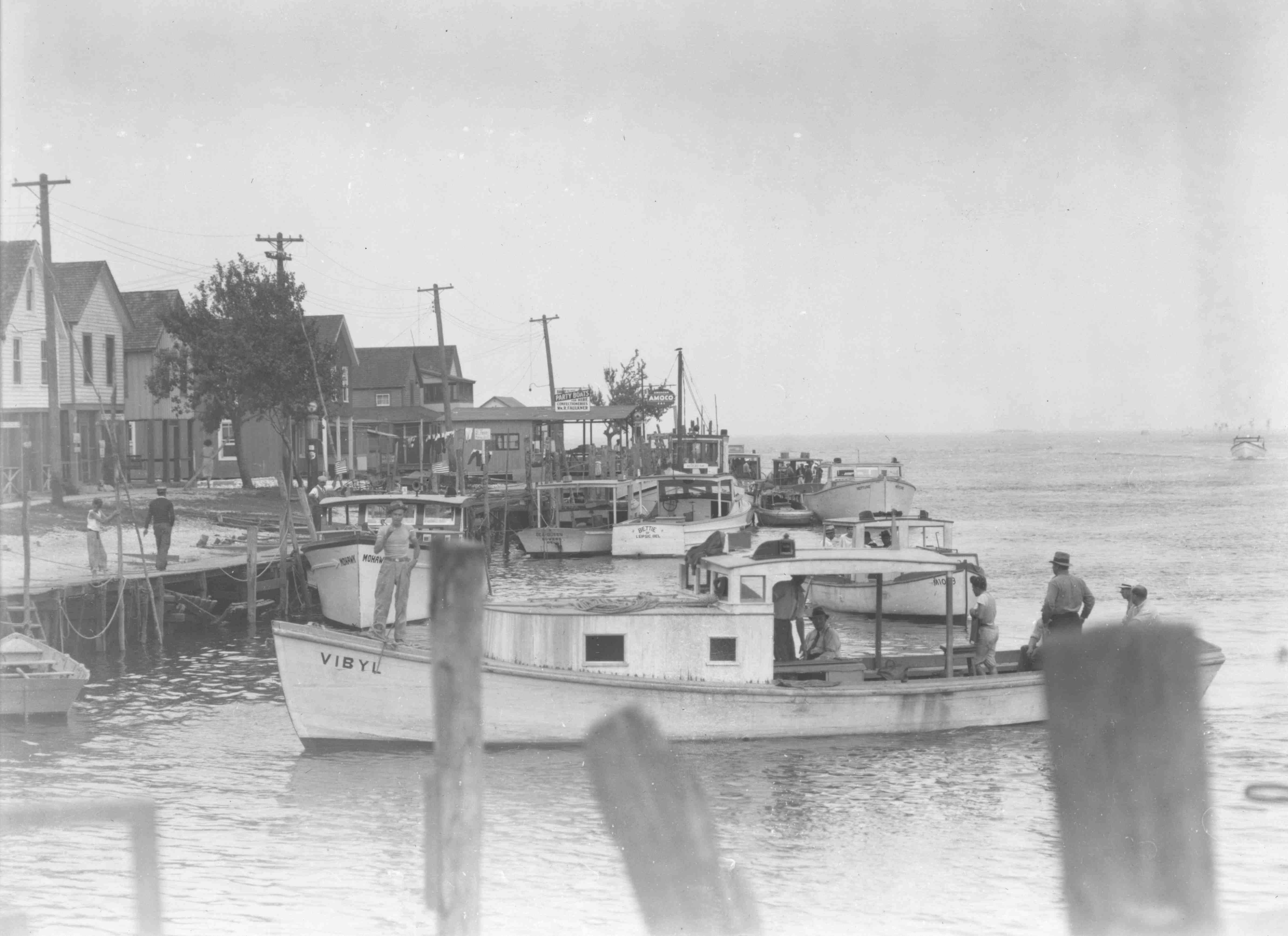 1935 fishing boats at bowers beach delaware from the for Rehoboth beach fishing