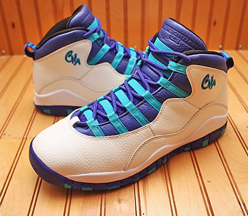 2016 Nike Air Jordan X 10 Retro Size 7Y - Charlotte White Concord - 310806  107