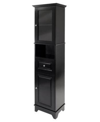 Magnificent Wood Alps Tall Cabinet With Glass Door And Drawer Products Home Interior And Landscaping Analalmasignezvosmurscom