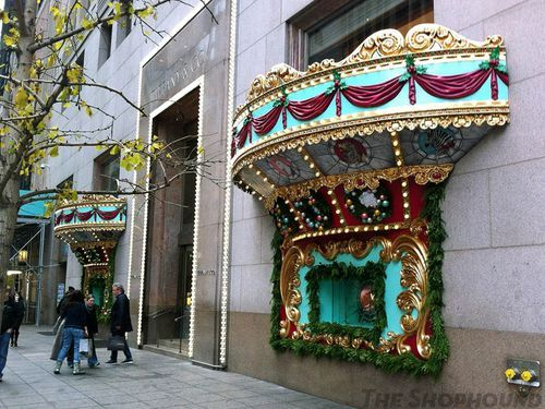 2c469342be04a Antique carousel in gold signature Tiffany Blue. 5th Ave. and 57th st.