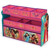 Take Charge Of Playroom Tidiness With The Disney Elena Of Avalor Deluxe Multi Bin Toy Organizer From Delta Childre Toy Organization Disney Furniture Kids Decor