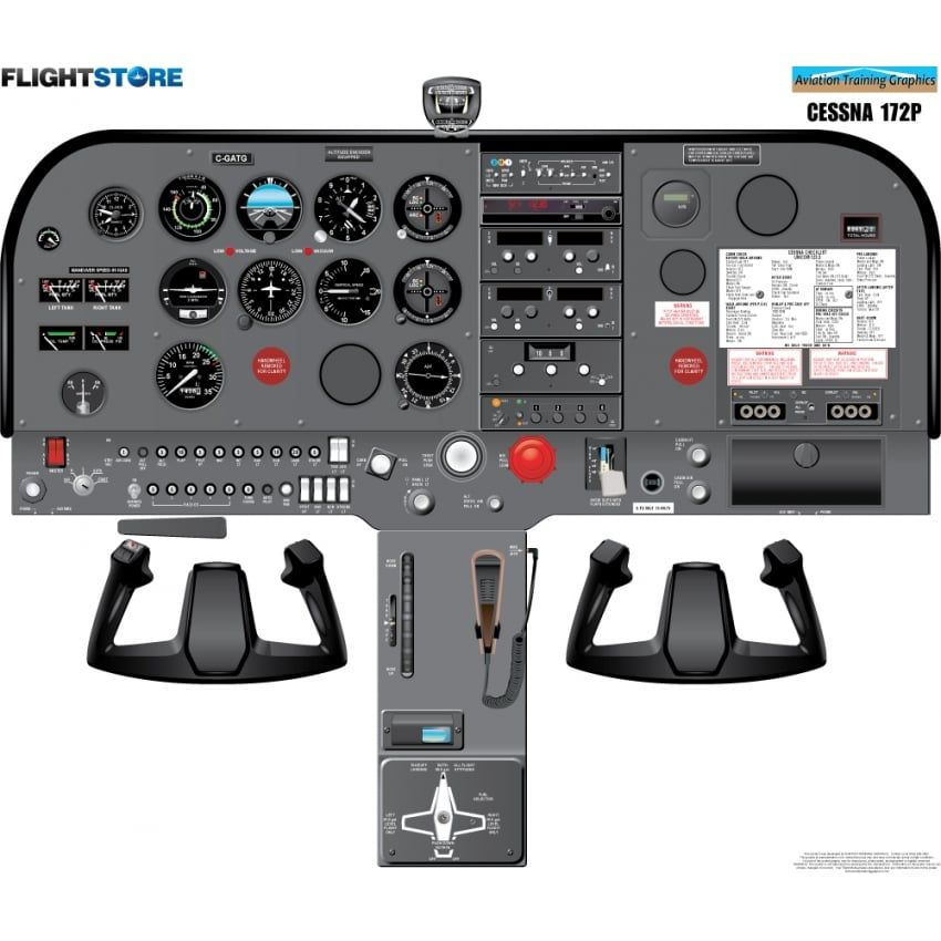 Cessna 172P Aircraft Cockpit Poster | aeroplane | รันเวย์