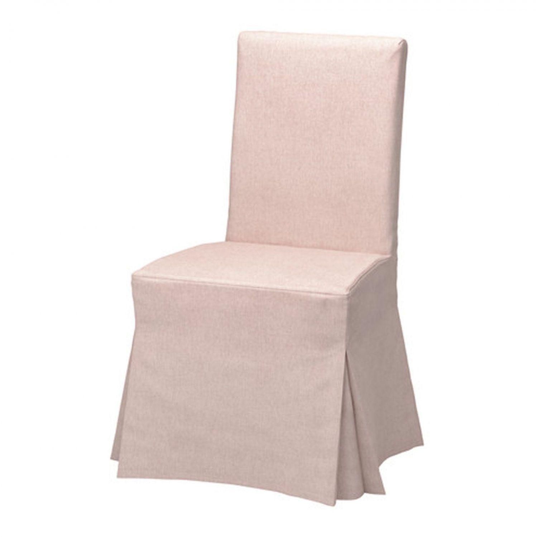Ikea Henriksdal Chair Slipcover Cover Skirted Long Gunnared Light