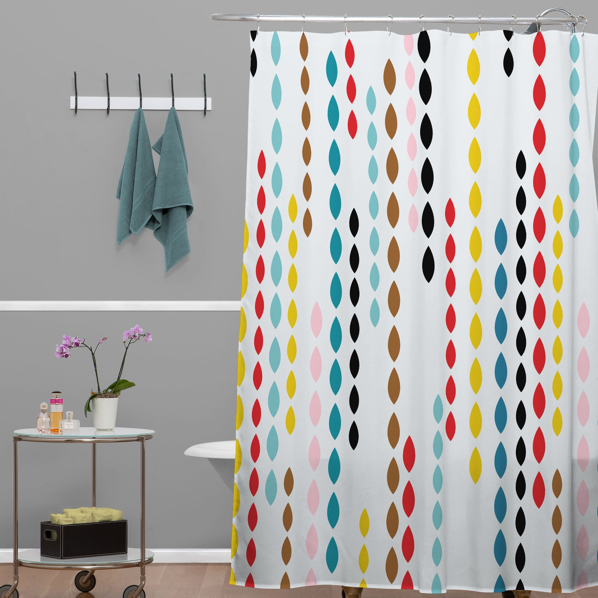 Deny Designs Khristian A Howell Woven Polyester Nolita Drops Shower Curtain Allmodern