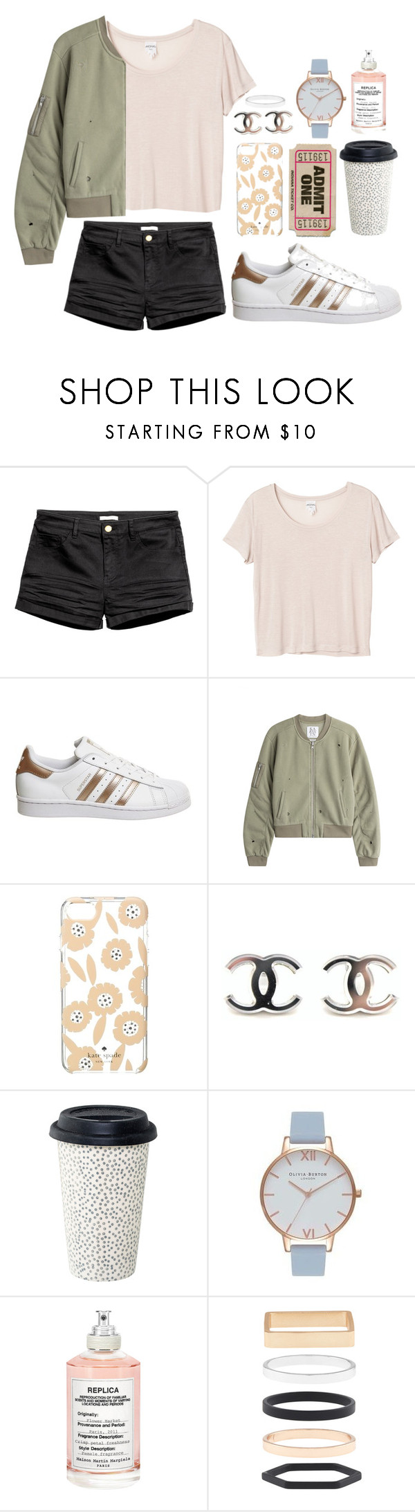 """Concert"" by emily-2024099 ❤ liked on Polyvore featuring Monki, adidas, Zoe Karssen, Kate Spade, Olivia Burton, Maison Margiela, Accessorize and didthisalready"