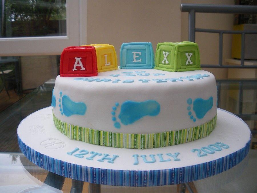 Building blocks on a cake   Party Ideas   Pinterest