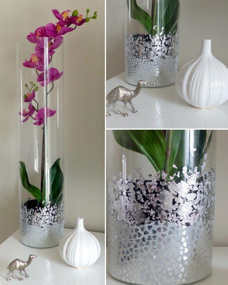d corer un vase en verre diy d co pinterest vase. Black Bedroom Furniture Sets. Home Design Ideas
