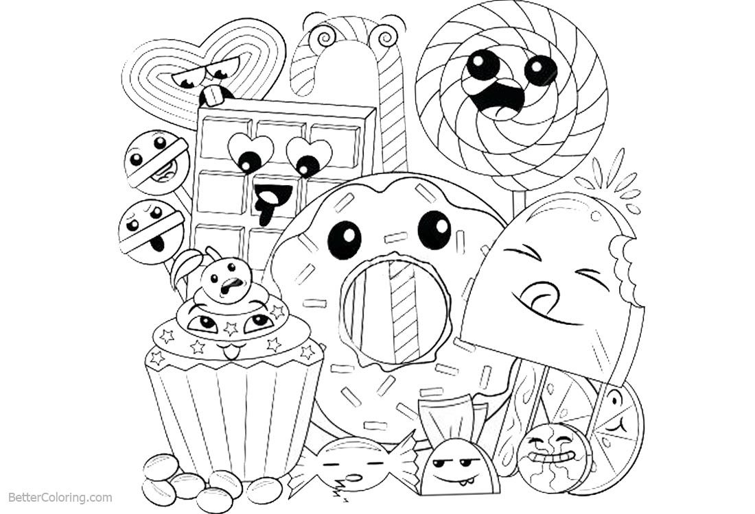Cartoon Food Coloring Pages In 2020 Food Coloring Pages Food