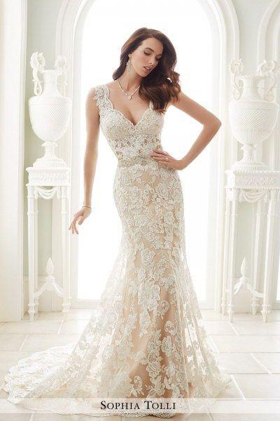 0ed23250fd31 Our Price    352.00 sophia tolli Y21656 Fellini Glamorous Wedding Dresses