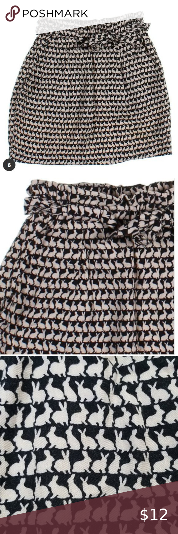 Bunny Print H M Black And Cream Dress Skirt In 2020 Trendy Skirts Cream Dress Dress Skirt [ 1740 x 580 Pixel ]