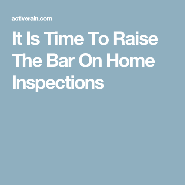 Who is checking the Home Inspector? Ontario is one of those locations, although we are currently working thro