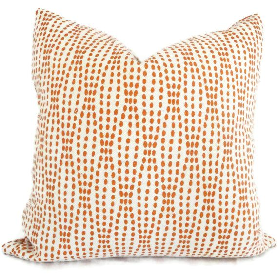 Orange And White Decorative Pillows : Pillow Cover, Orange and White Reversible Dot Decorative Pillow Cover, Accent Pillow, Throw ...
