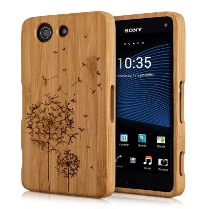 Kwmobile Holz Hulle Bambus Case Fur Sony Xperia Z3 Compact Handy Schutzhulle Cover Mit Kompass Design In Hellbra Sony Xperia Z3 Handy Schutzhulle Sony Xperia