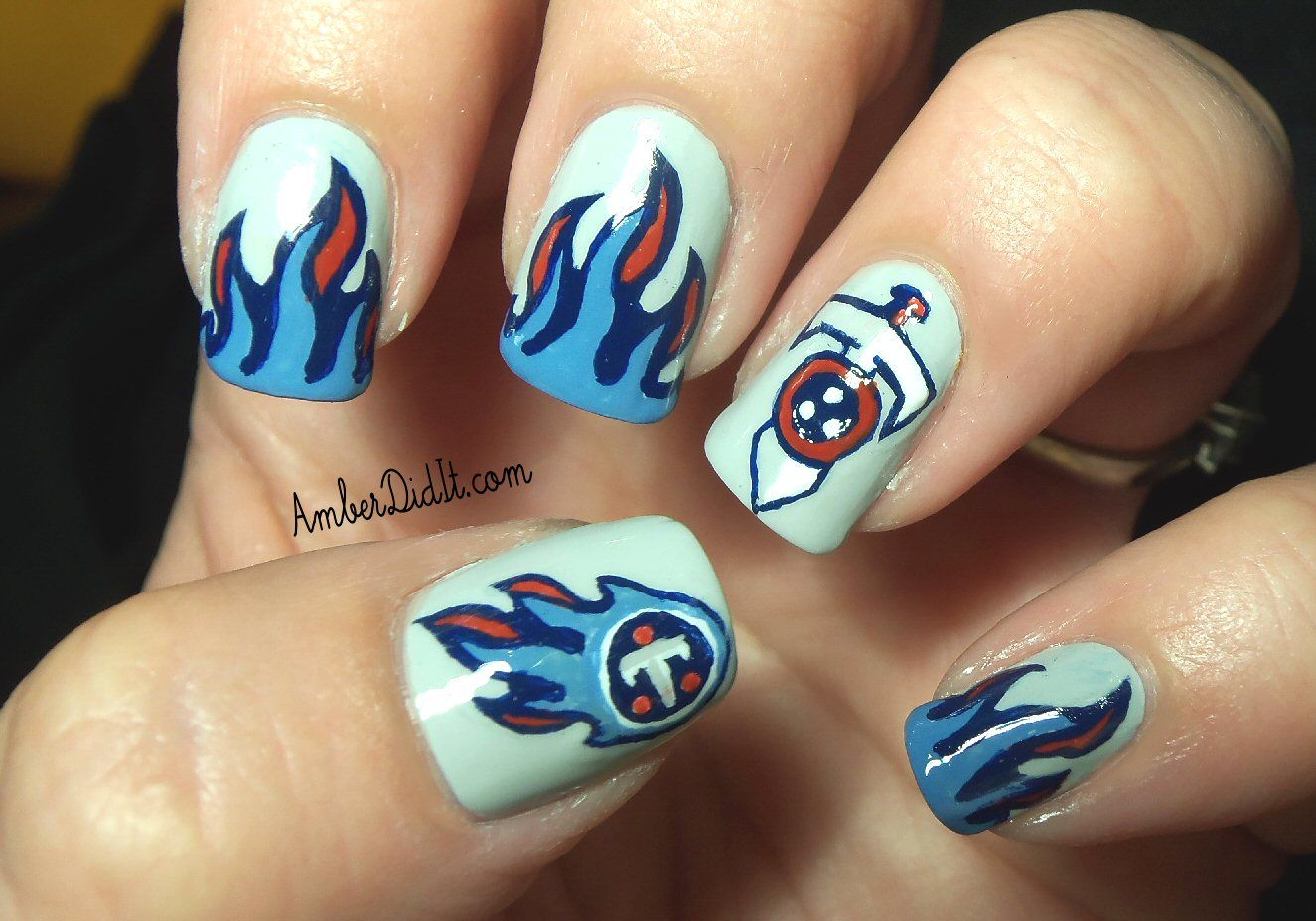 Tennessee Titans nail art #football | Nails by Amber | Pinterest ...
