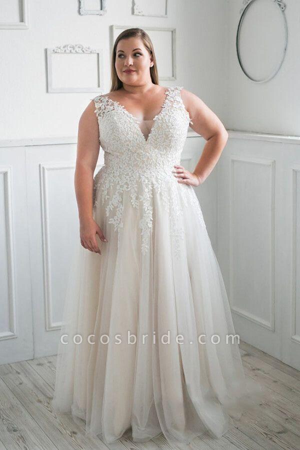 Plus Size V Neck Tulle A Line Wedding Dress Wedding Dress Boutiques A Line Wedding Dress Knee Length Wedding Dress