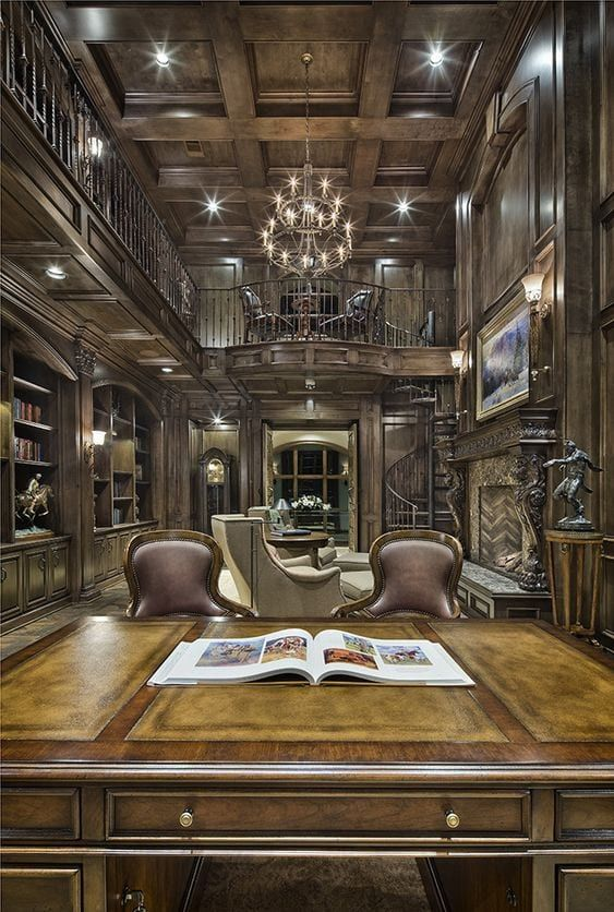 Luxury Home Library Design: LUXURIOUS HOME OFFICES In 2019