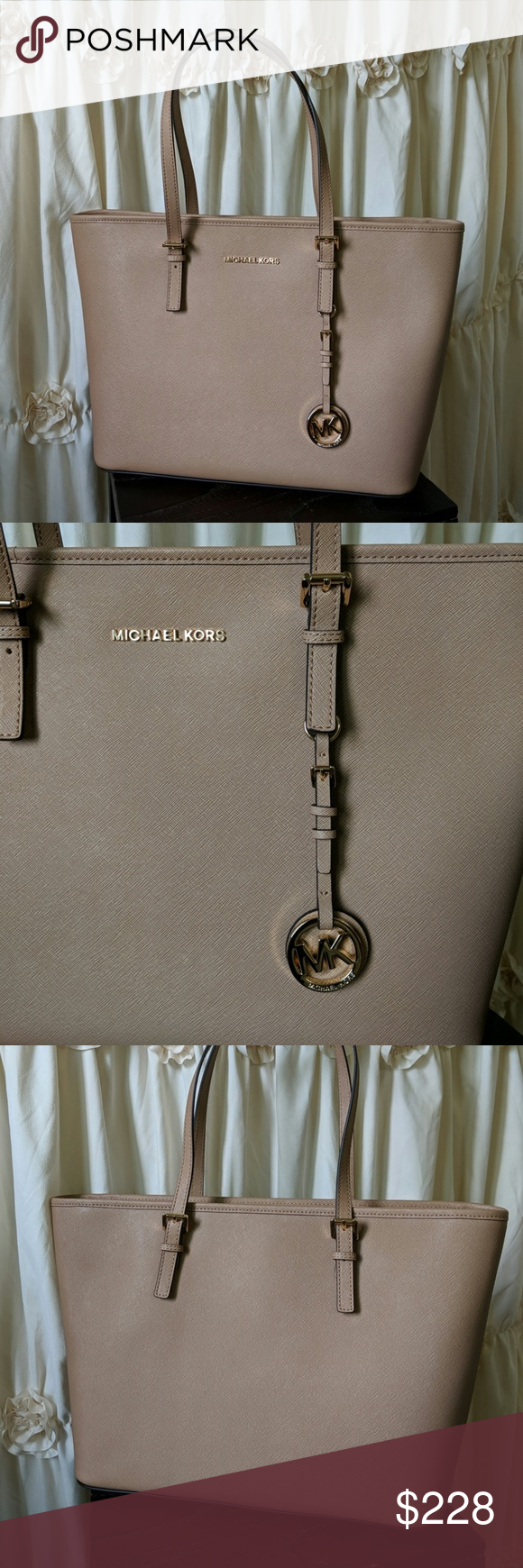 486bfab3d49 NWT Michael Kors Jet Set Travel Tote Chic, sassy and sophisticated! This  purse is