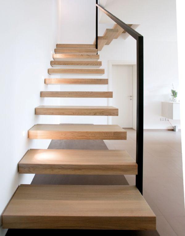 Scale a giorno a sbalzo in legno ghost alfa scale - Scale interne in legno ...