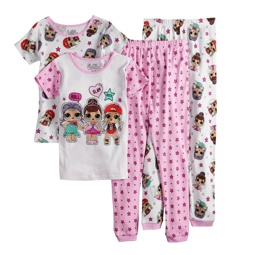 f40ac1eaa7 Girls 4-10 L.O.L. Surprise! Tops   Bottoms Pajama Set