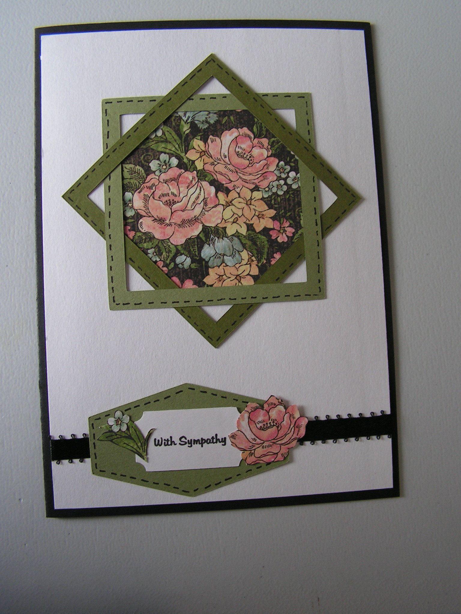 Religious Card, Religious Sympathy Card, Elegant S