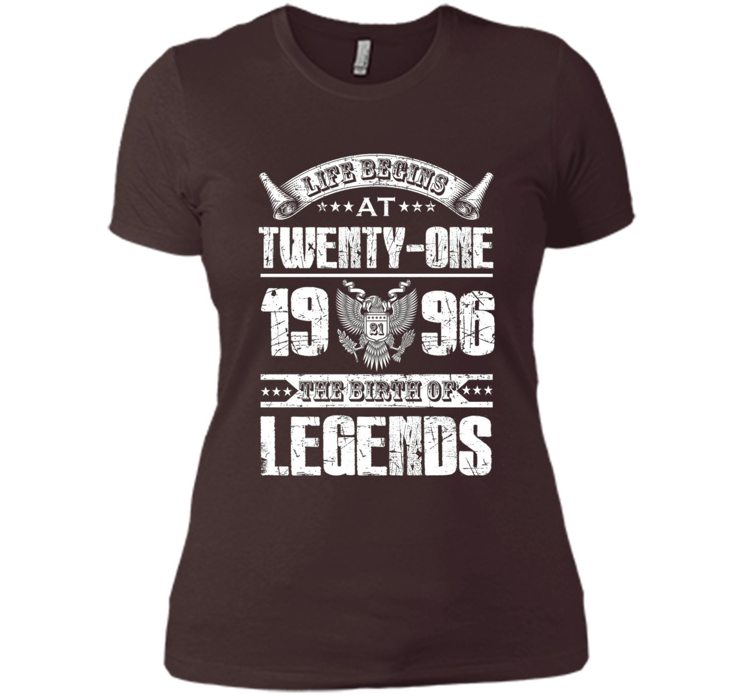 Life begins at 21, 1996 the birth of legends- 1996 T Shirt t-shirt