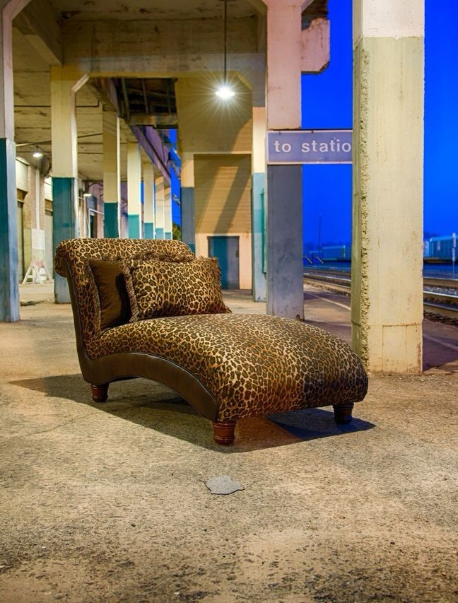 Lounge Back In This Chic Leopard Chaise. | Houston, TX | Gallery Furniture |