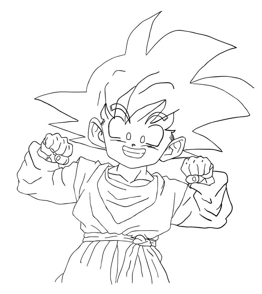 Printable Coloring Pictures of DBZ Goten - Enjoy Coloring ...