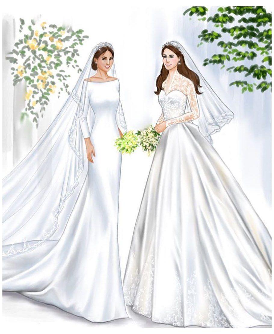 Royal Wedding Gowns Princesses Kate Middleton Royalweddinggownsprincesseskatemidd In 2021 Royal Wedding Gowns Wedding Dress Sketches Wedding Dress Illustrations [ 1111 x 911 Pixel ]