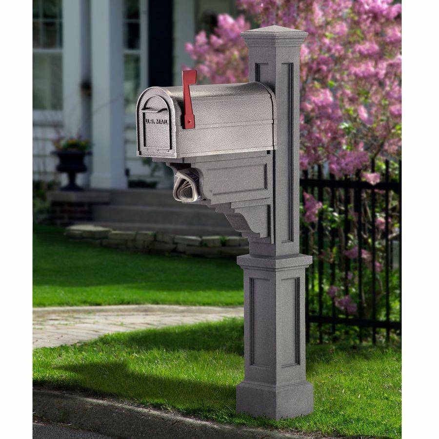 unique residential mailboxes. Shop Mayne Granite Polymer Mailbox Post At Lowes.com Unique Residential Mailboxes E