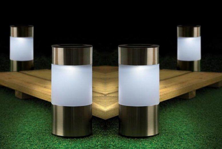 Chrome Solar Garden Lights - 1, 2 or 4