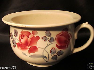 Ancien Vase De Nuit Pot De Chambre En Faience Digoin Modele Cannes Decor Roses Vase Faience Vaisselle Ancienne