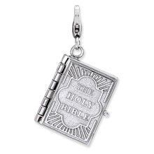 3-D Bible Charm in Sterling Silver