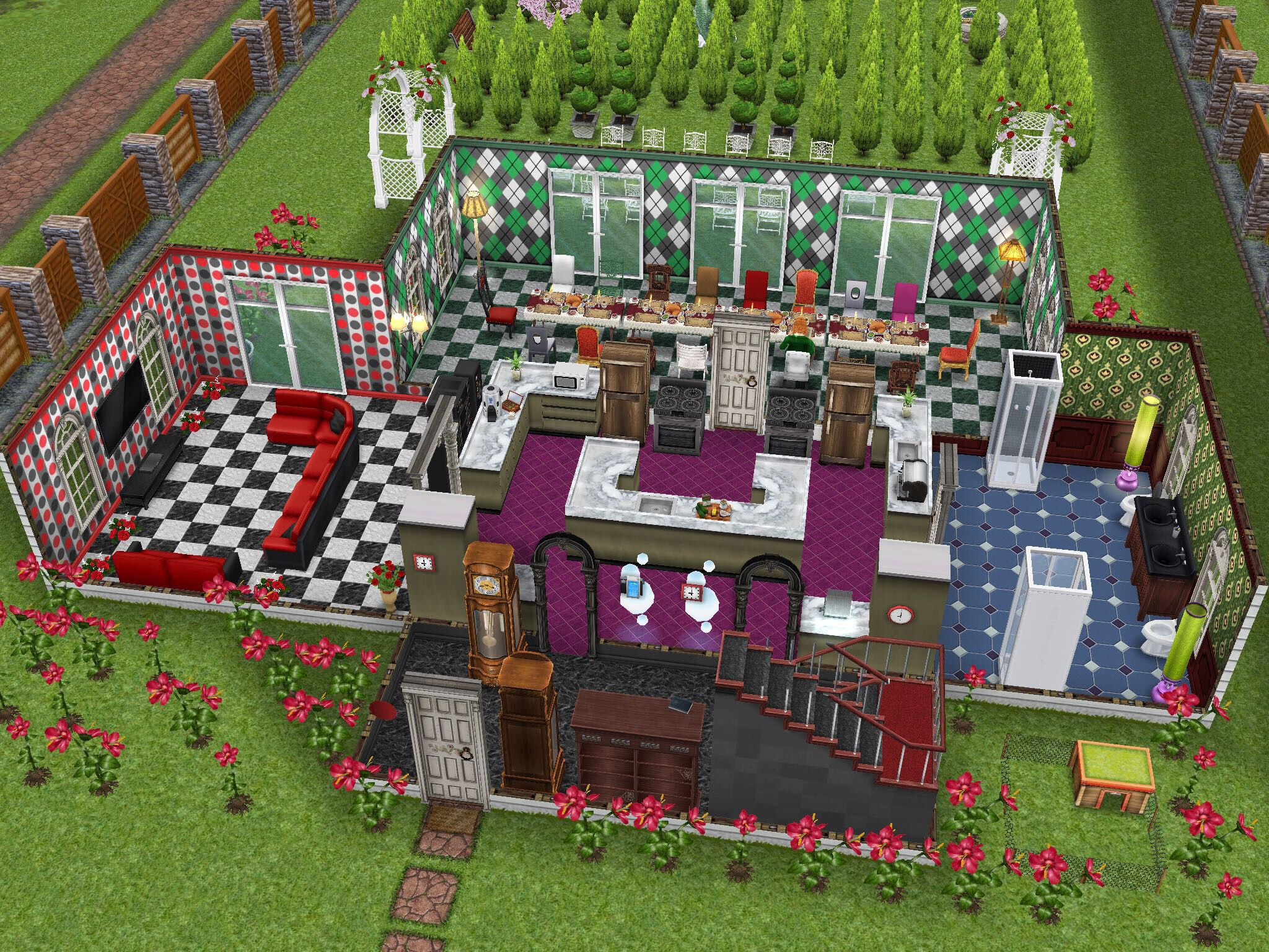 alice in wonderland inspired house (part 1) #thesims #simsfreeplay