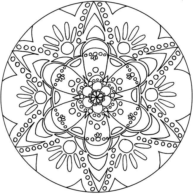 Coloring In Pages Free : Free printable spiritual mandala coloring amazing pages