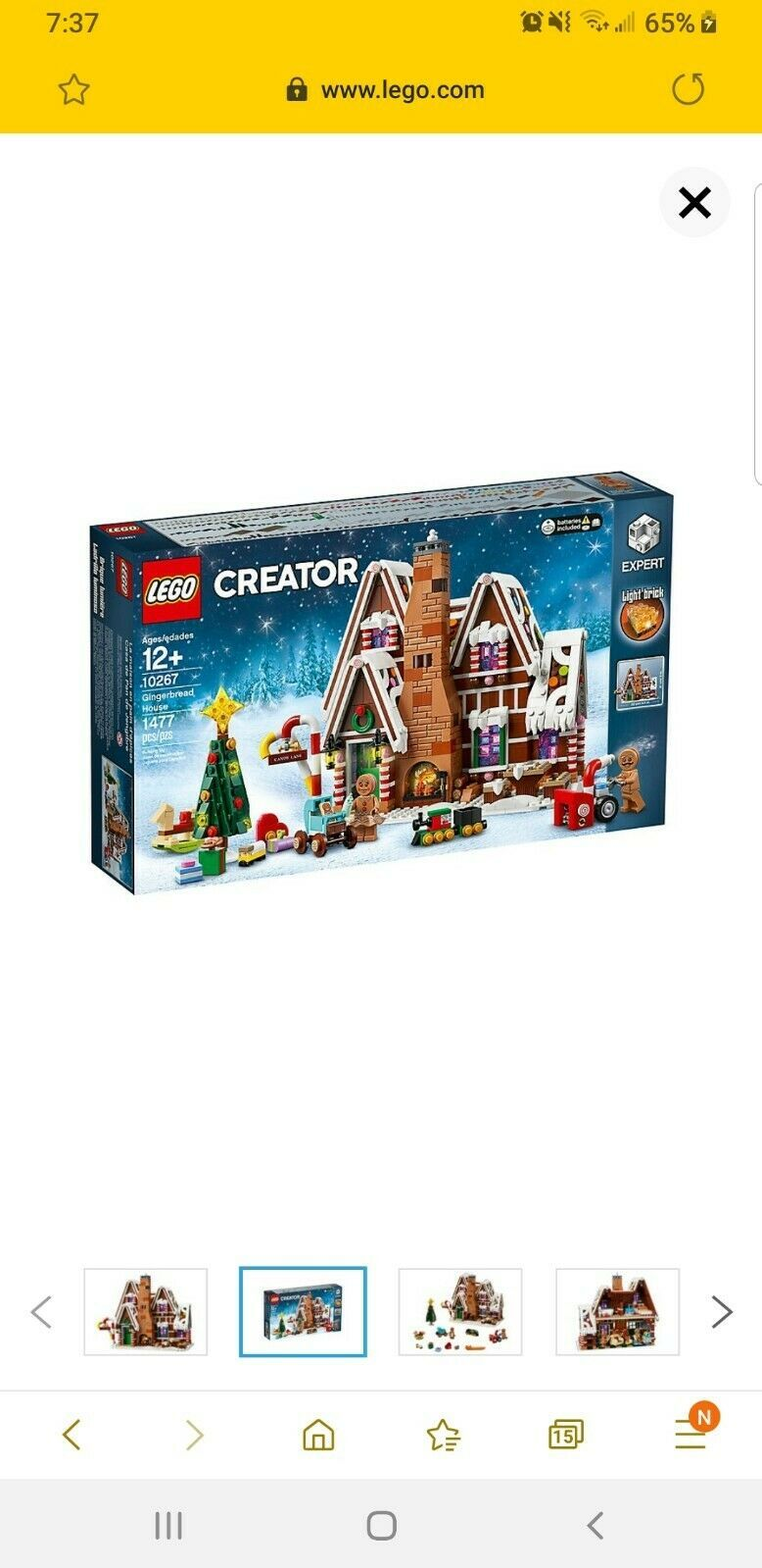 LEGO Creator Expert Gingerbread House (10267) New Fast