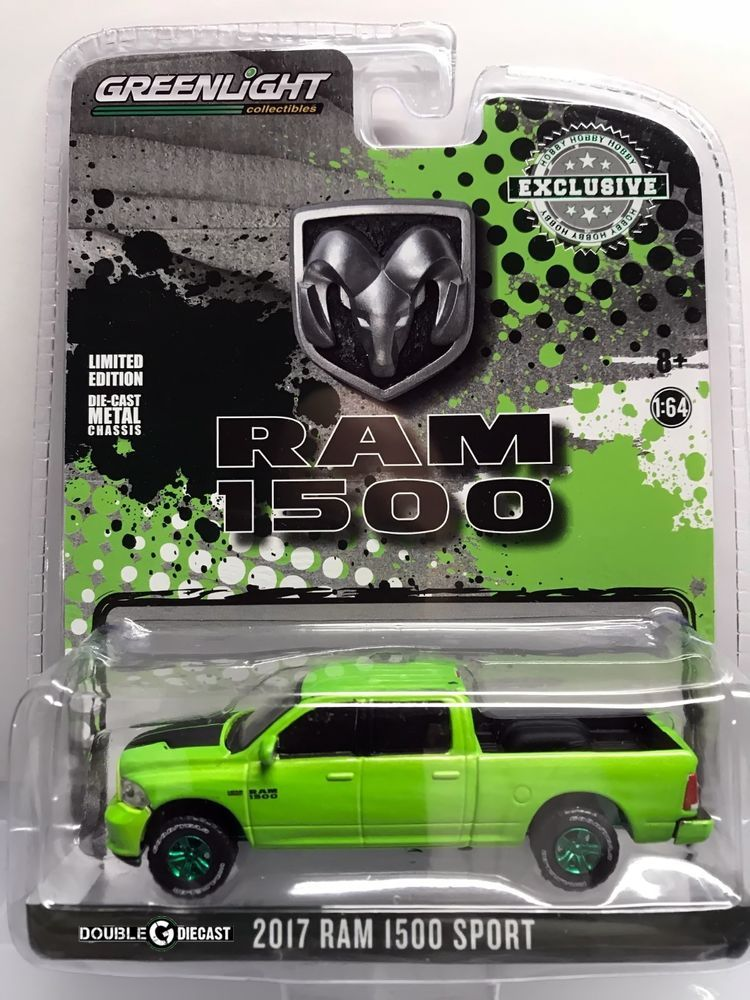 Greenlight Hobby Ex - 2017 Dodge Ram 1500 Sport - Sublime Green
