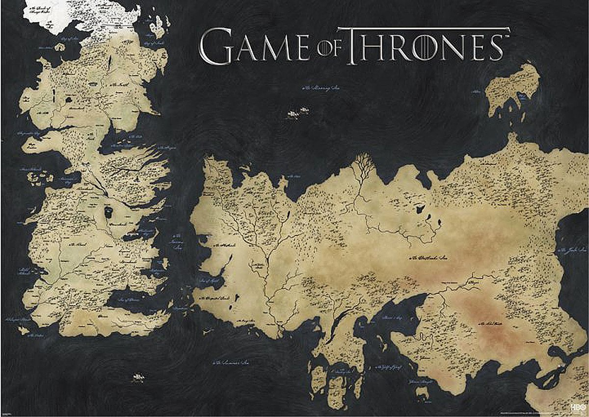 Game Of Thrones Poster Game Of Thrones Map Game Of Thrones