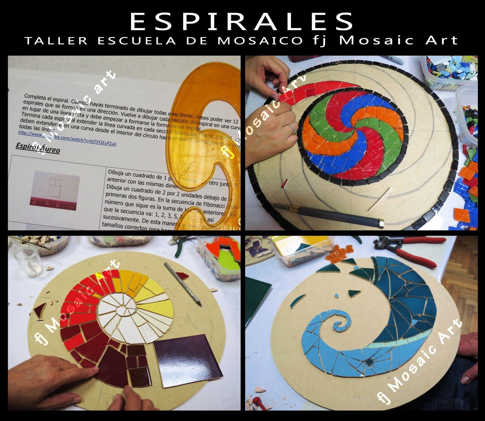 Mosaico creativo de fj mosaic art taller de espirales en for Mesas de mosaico