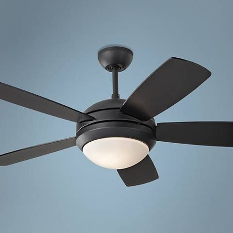 44 Monte Carlo Discus Ii Matte Black Ceiling Fan 7r194 Lamps