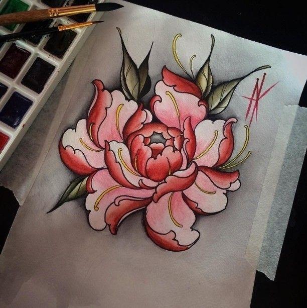 Asian chrysanthium tattoo gallery