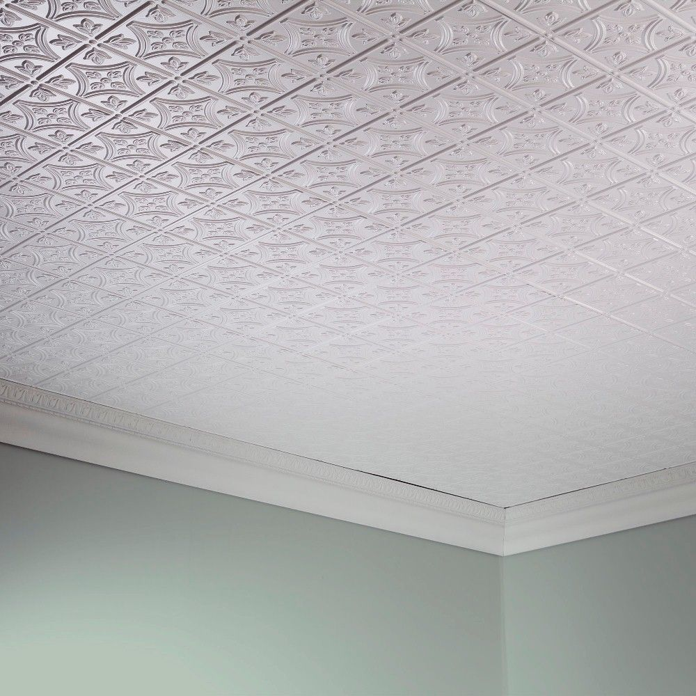 These pvc tiles are water and corrosion resistant for exceptional glue up decorative vinyl ceiling panels provide the classic look of traditional tin ceilings for a fraction of the cost the ceiling panels feature quick dailygadgetfo Choice Image
