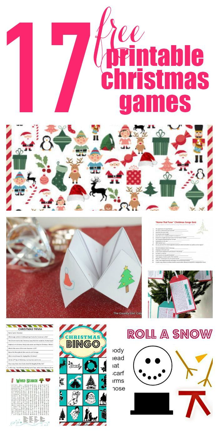 This is a graphic of Divine Free Printable Christmas Games for the Whole Family