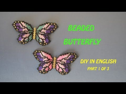 Beaded Butterfly DIY in English. Beading and Miroslava TV - YouTube #hairtutorials